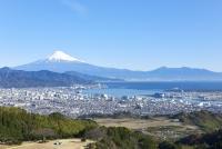 富士山と駿河湾を望む