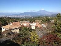 正面に富士山、眼下に駿河湾を見下ろせる「森の里」