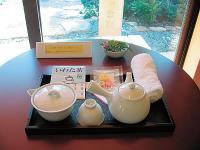 館内でお茶(300円)を飲むことができます。