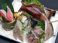 新鮮な伊豆の魚を使ったお造り