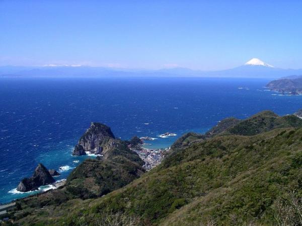 駿河湾富嶽三十六景-第一景-雲見温泉高通り山