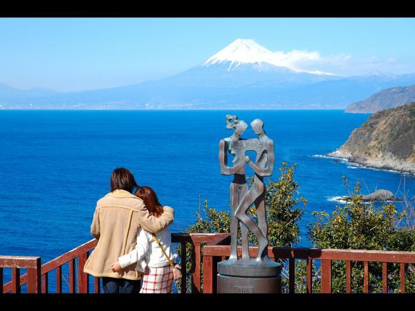 駿河湾富嶽三十六景-第八景-恋人岬先端