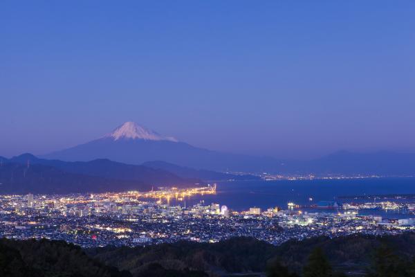 駿河湾富嶽三十六景-第二十二景-日本平ホテル(夜景)