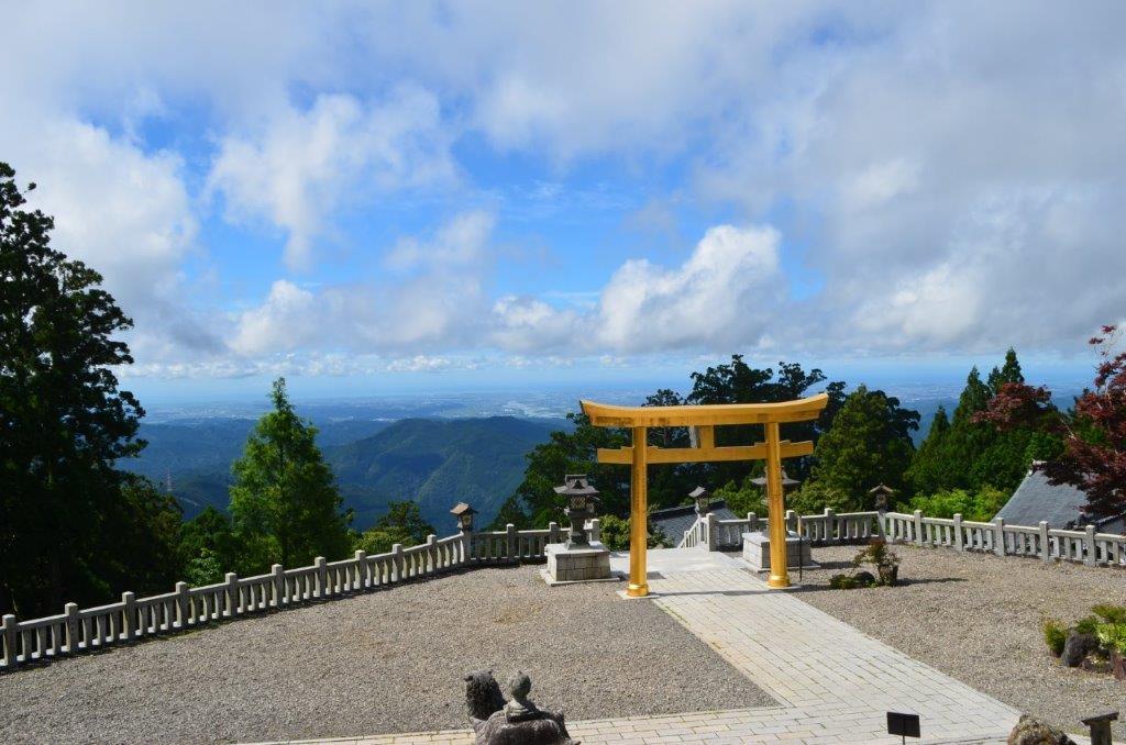 秋葉山より太平洋を望む