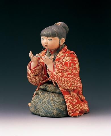 平田郷陽《綾取》昭和46年(1971) 佐野美術館蔵