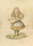 ルイス・キャロル/画:ジョン・テニエル《切手ケース》(部分)Lewis Carroll, The Wonderland postage stamp case. The Rosenbach, Philadelphia