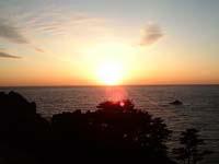 とてもきれいな夕日が見れます。
