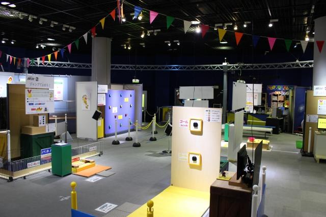 展示・体験室では季節ことに変わる体験型展示が楽しめる。