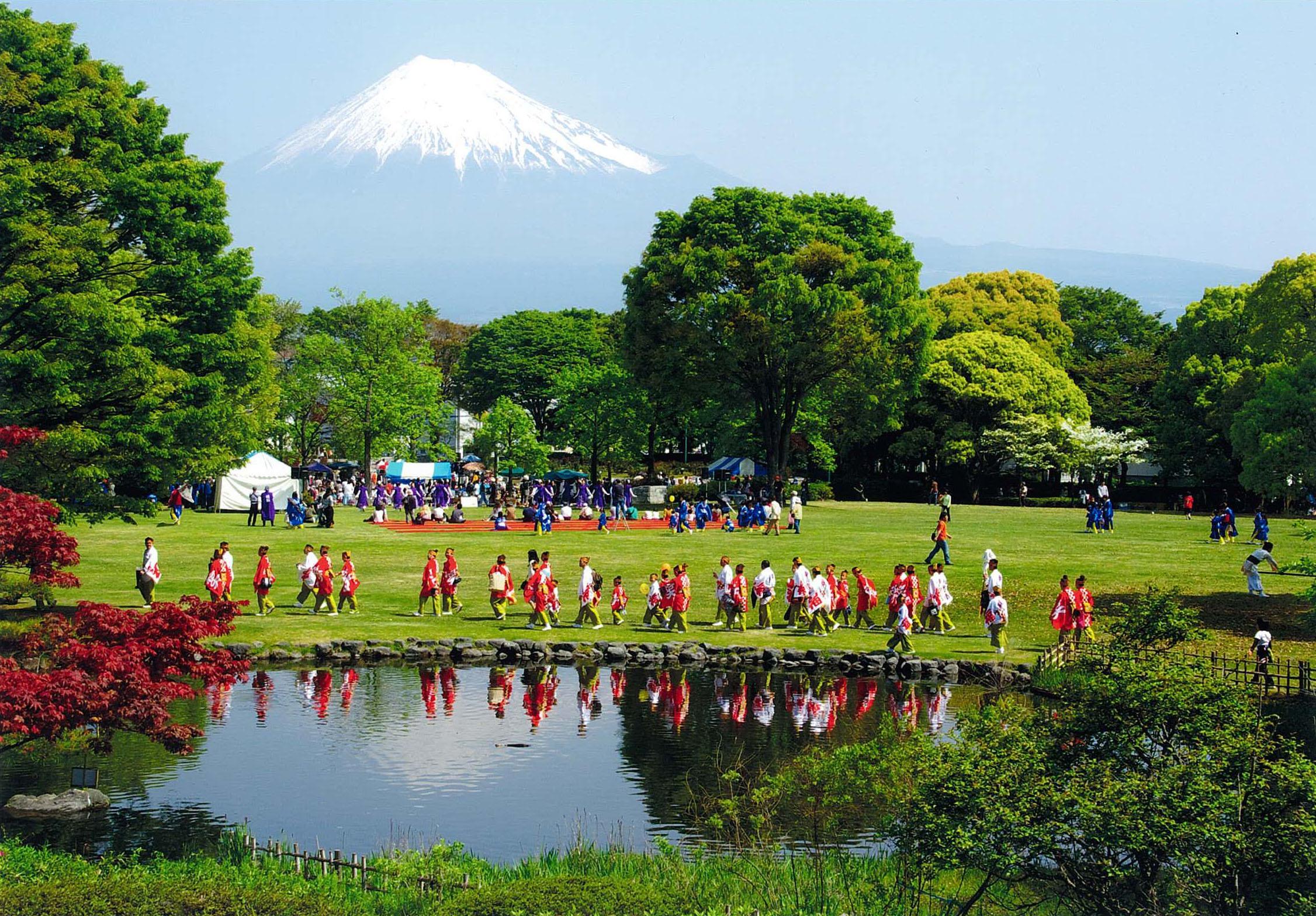 第5回富士山百景写真コンテストエリア賞「春の中央公園」