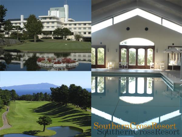 ホテル前景、インドア温水プール、ゴルフコース