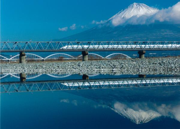駿河湾富嶽三十六景-第十九景-富士川鉄橋
