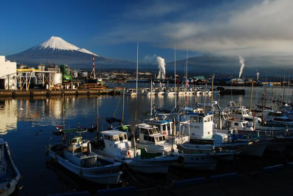 駿河湾富嶽三十六景-第十八景-田子の浦漁港